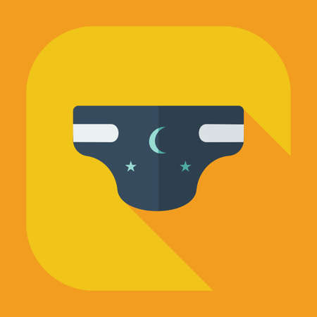 pampers: Flat modern design with shadow icons diapers