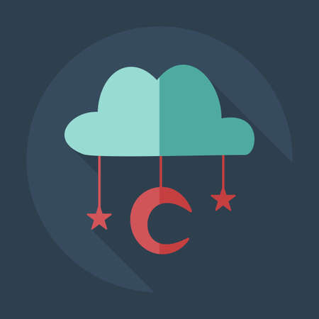 Flat modern design with shadow icons Muslim heaven