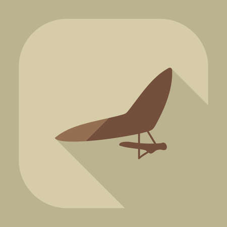 hang gliding: Flat modern design with shadow icon hang-glider