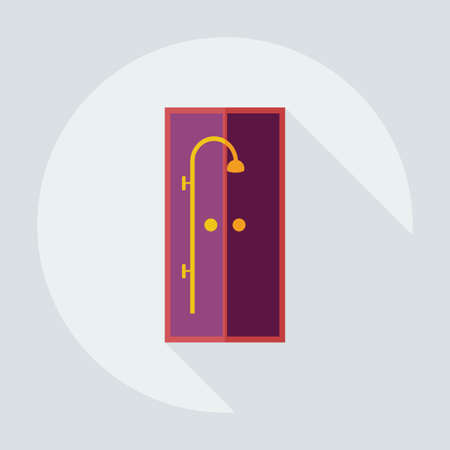 shower room: Flat modern design with shadow icons shower room Illustration