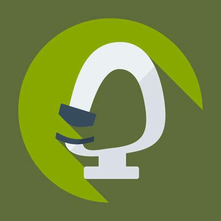 optics: Flat modern design with shadow icon optics