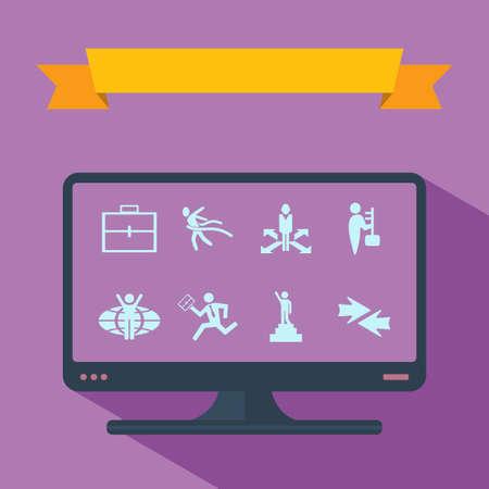 medical distribution: stick figure man silhouette icon. Illustration