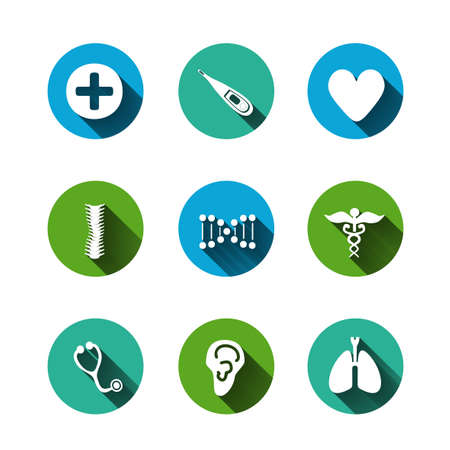 scoliosis: Paper clipped sticker: medicine. Isolated illustration icon Illustration