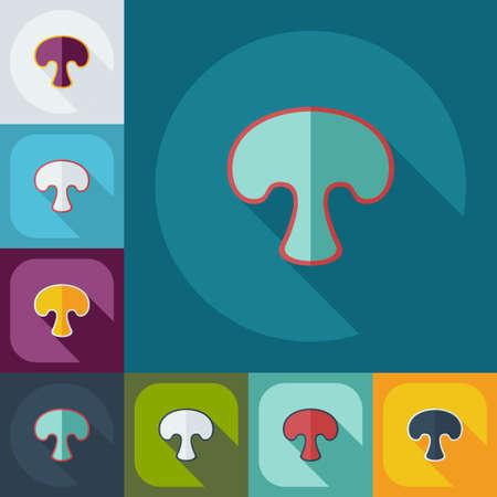 fungus: Flat modern design with shadow icons fungus