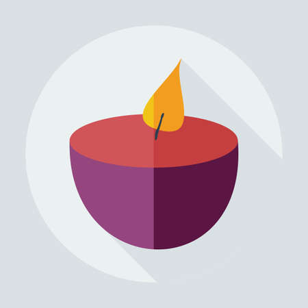 Flat modern design with shadow icons candle