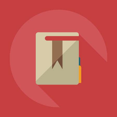 Flat modern design with shadow icons folder decree Illustration