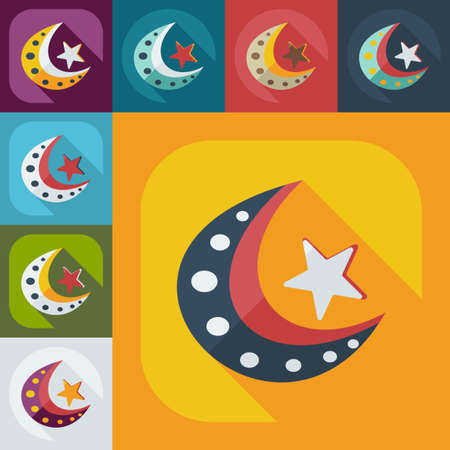 ethnical: Flat modern design with shadow icons islam Illustration