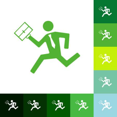attache: stick figure man silhouette icon. Illustration