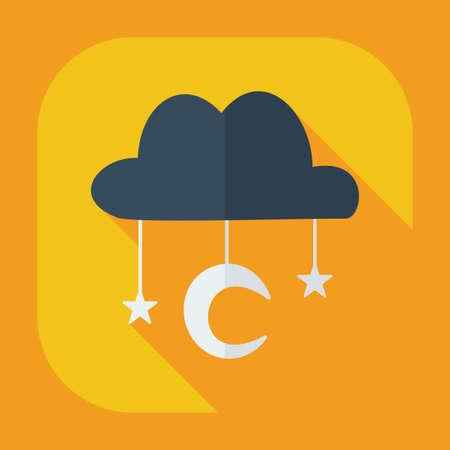mohammedan: Flat modern design with shadow icons Muslim heaven