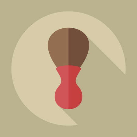 shaving: Flat modern design with shadow icons  for shaving