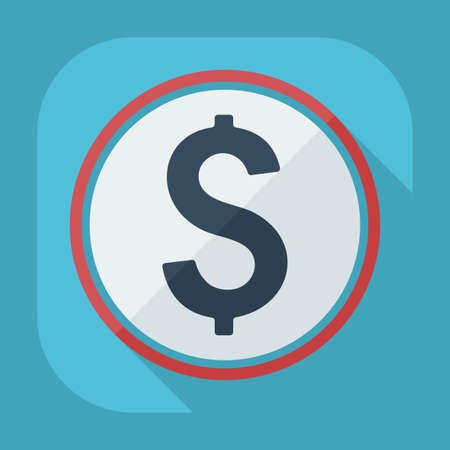 australian money: Flat modern design with shadow icons currency unit Illustration