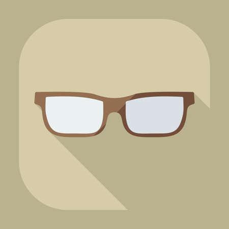 optometrist: Flat modern design with shadow icon optics