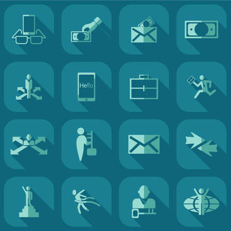 medical distribution: Collection set of flat icons business theme