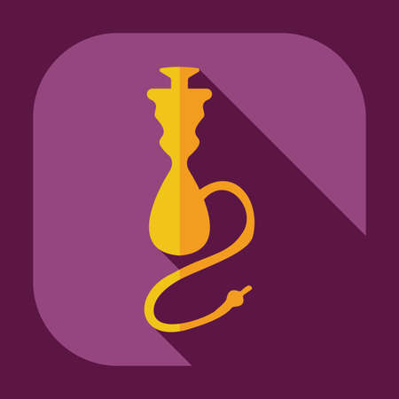 hookah: Flat modern design with shadow icons hookah Illustration