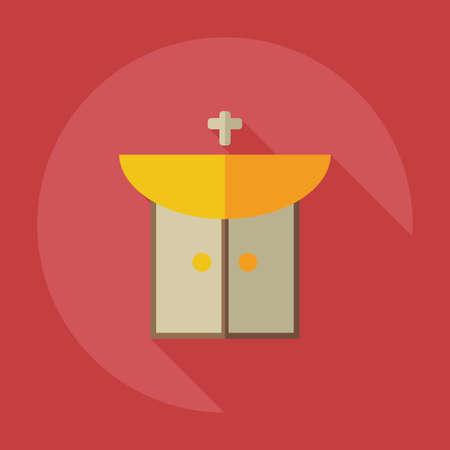 washbasin: Flat modern design with shadow icons washbasin Illustration