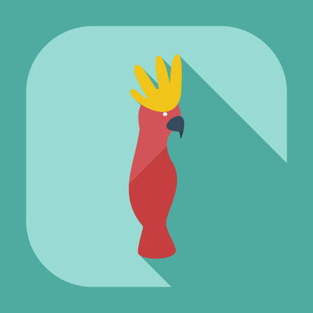 lovebird: Flat modern design with shadow icons parrot
