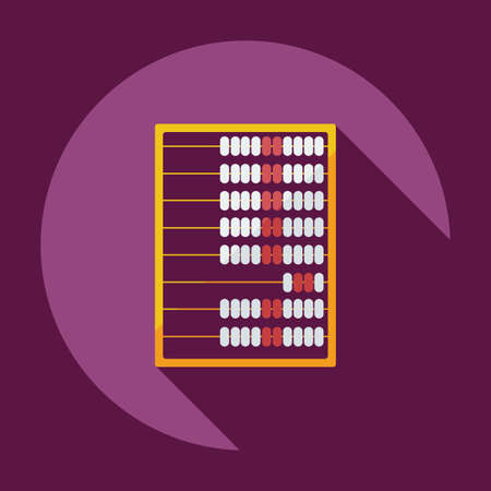 subtraction: Flat modern design with shadow abacus icon