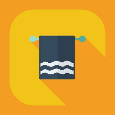 bathtowel: Flat modern design with shadow icons towel Illustration