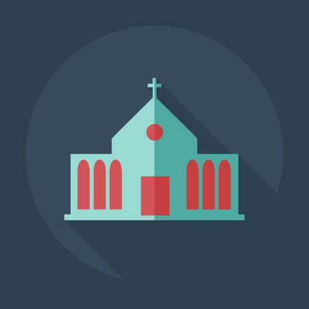 altar: Flat modern design with shadow icons church Illustration