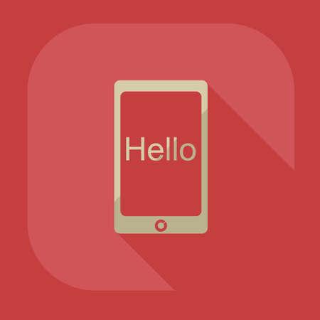 gadget: flat icon gadget phone business theme