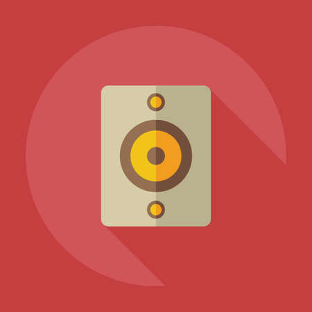 sub woofer: Flat modern design with shadow icons audio