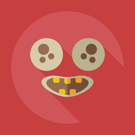 smily: Flat modern design with shadow icons smiley happy