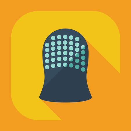 thimble: Flat modern design with shadow icons thimble