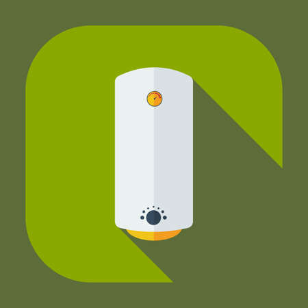 boiler: Flat modern design with shadow icons boiler