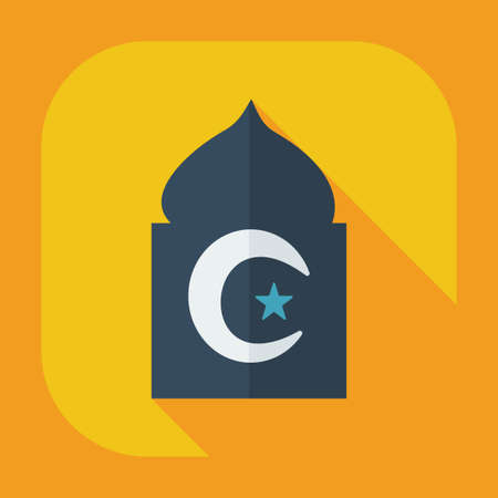 Flat modern design with shadow icons mosque