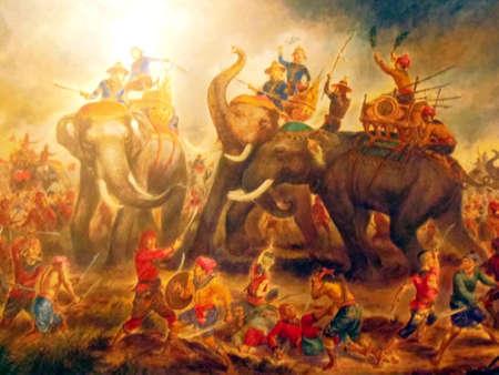 sacrificio: La leyenda de Su Majestad Suriyothai sacrificarse en White Elephant Per�odo de Guerra Ayudthaya