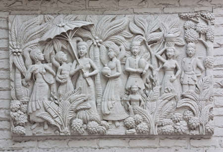 Indonesian bas relief photo