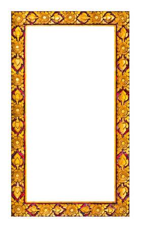 thai craft: Frame of Thai ancient art Stock Photo