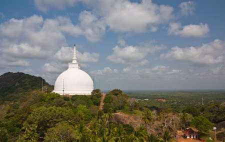 Landscape view of  Mahaseya Stupa (Dagoba) in  Mihintale, Sri Lanka photo