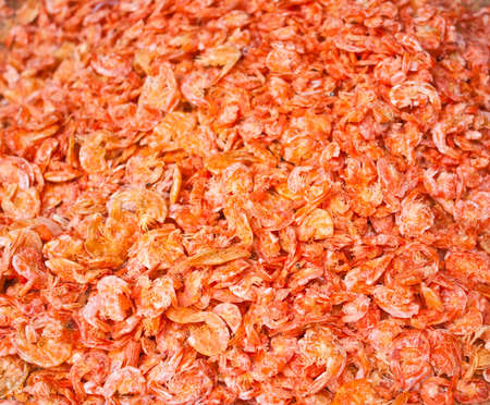 Small dried shrimp, use as food ingredient. Stock Photo - 13924087