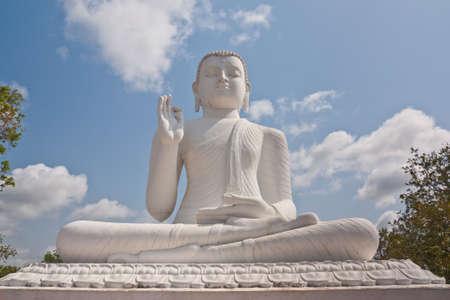 lanka: White Buddha statue, Mihintale, Sri Lanka