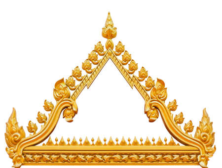 buddhists: Frame of Thai ancient art Stock Photo