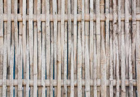 Old bamboo wall photo