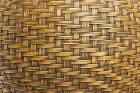 Texture of antique bamboo handcraft photo