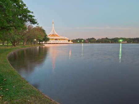 ix: Lake landscape of Suanluang RAMA IX public park, Bangkok, Thailand