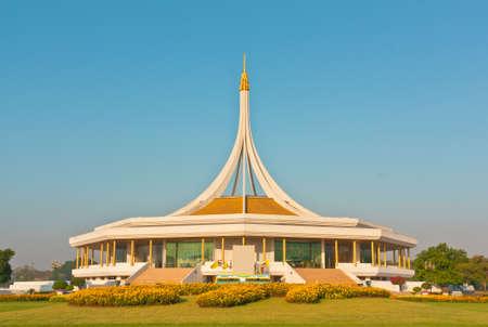ix: Ratchamangkhala Pavilion in The Suanluang RAMA IX public park, Bangkok, Thailand Stock Photo