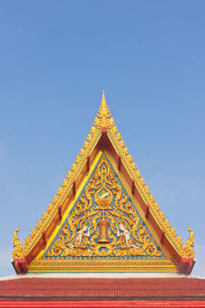 apex: Thai Buddhist temple gable with apex