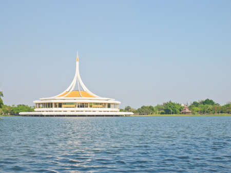 ix: Ratchamangkhala Pavilion in The Suanluang RAMA IX public park, Bangkok, Thailand Editorial