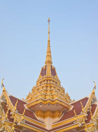 tiered: Thai Buddhist temple middle roof tiered