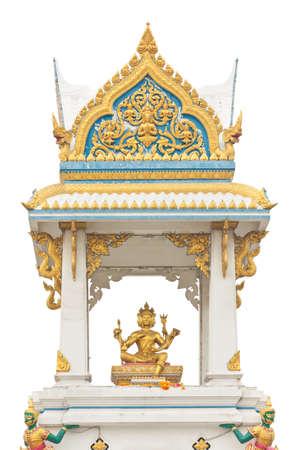 hinduismo: estilo tailandés Hinduismo gran casa de santuario chino aislado en blanco