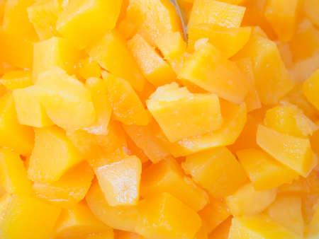 stow: Closeup of compote sweet potato - Thai style dessert Stock Photo