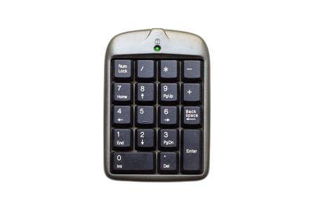 teclado numérico: Cierre de teclado numérico en el fondo blanco