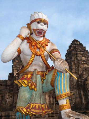 evident: Sculpture Hanuman Stock Photo