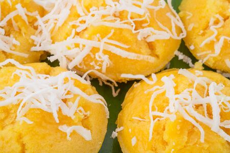 toddy palm: The thai toddy palm cake sweet taste deliciuos.