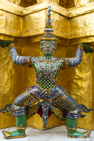 the protector: YAK or Giant architectural protector of WAT TEMPLE in Thailand