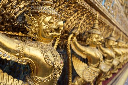 protector: golden garudaarchitectural protector of WAT Prakaew TEMPLE in Thailand